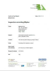 Pelet bukov Sparrow sertifikat EN plus A2